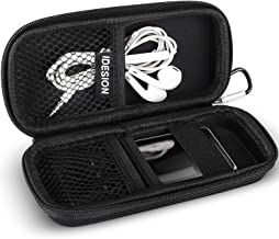 MP3 Player Case KINGTOP Durable Hard Shell Travel Carrying Case for MP3 MP4 Players,iPod Nano,iPod Shuffle,USB Cable,Earphones,Memory Cards,U Disk,Keys (L) (5.3x2.1x1.5inch)