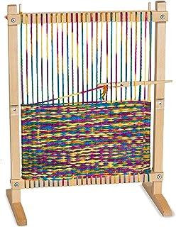 Melissa & Doug Wooden Multi-Craft Weaving Loom (Arts & Crafts, Extra-Large Frame, Frustration-Free Packaging)