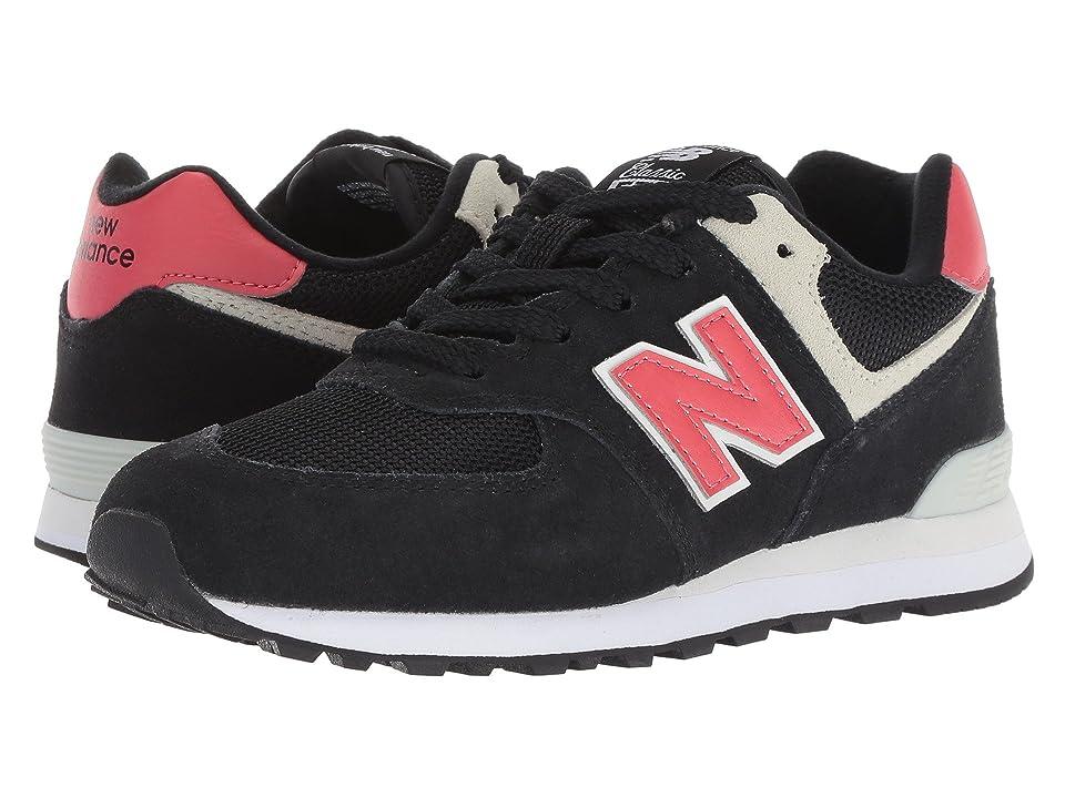 New Balance Kids PC574v1 (Little Kid) (Black/Pomelo) Boys Shoes