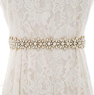 Rhinestone Bridal Belt Sash Wedding Dress Belt Crystal Applique for Bridesmaid Gown