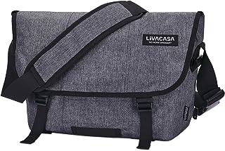 LIVACASA OUTLET Sac Messenger 15.6 Pouces Hommes Garçons Femmes Imperméables Résistant Sacoche à Bandoulière Messenger Bag...