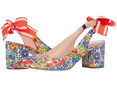 J.Crew Liberty with Tie Slingback Sonia Pump (Floral Multi) High Heels
