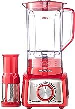 Liquidificador Mondial, Turbo Inox L-1000W, 127V, Vermelho, 3L - L-1000-RI