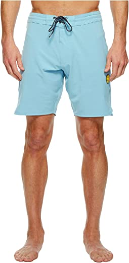 VISSLA - Solid Sets Washed Four-Way Stretch Boardshorts 18.5