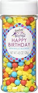 Festival Happy Birthday Sprinkle Blendz, Assorted Colors, 4.5 oz. Jar