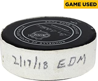 Arizona Coyotes Game-Used Puck vs. Edmonton Oilers on February 17, 2018 - Fanatics Authentic Certified