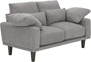 Signature Design by Ashley - Baneway Mid-Centry Loveseat, Gray