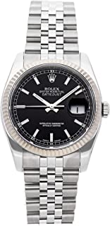 Datejust Mechanical (Automatic) Black Dial Mens Watch 116234 (Certified Pre-Owned)