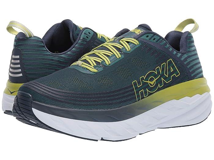 Hoka One One  Bondi 6 (Deep Teal/Green Oasis) Mens Running Shoes