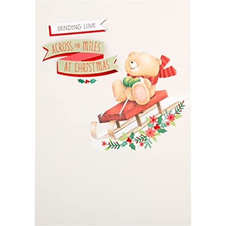Hallmark Forever Friends Christmas Card /'Merry Ever After/' Small Square