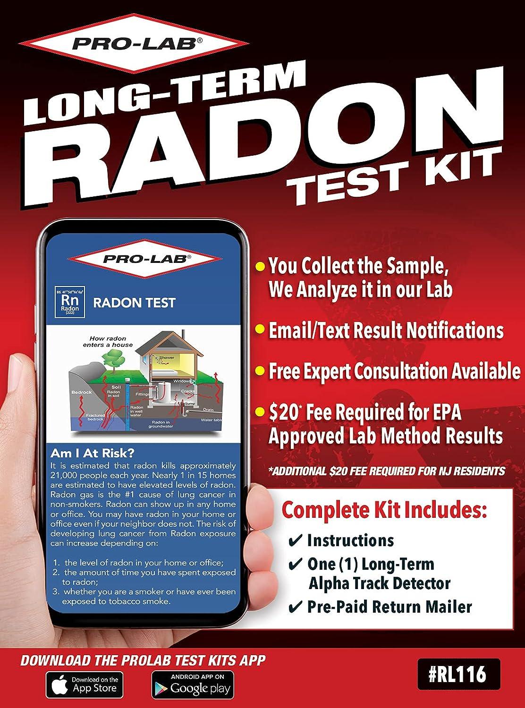 PRO-LAB Long Term Radon Test Kit - The PRO-LAB Long Term Radon T