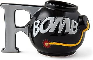 BigMouth Inc F-Bomb Mug, Black Ceramic Coffee Cup, Holds 16 Oz of Beverage, Novelty Mug