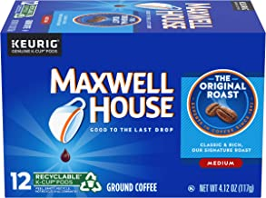 Maxwell House Original Medium Roast Keurig K Cup Coffee Pods (72 Count, 6 Boxes of 12)