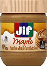 Jif Maple Peanut Butter Spread, 12 Ounce (Pack of 12)