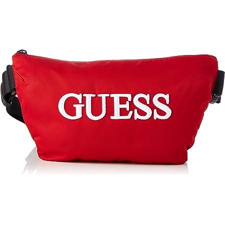 Guess Quarto Bum Bag, Backpack para Hombre, Rojo, Talla única