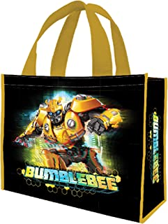 Vandor 56254 Transformers Bumblebee Large Recycled Shopper Tote, 16 x 6 x 12 Inches, Black/Yellow