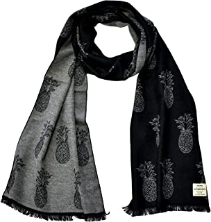 Komodo - Double Sided Pineapple Scarf, Black - One Size