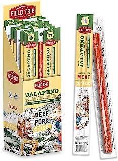 Field Trip Keto Diet Friendly, Low Carb, Jalapeno Beef & Pork Jerky Stick, 1oz, 24 Count