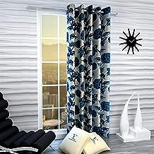 Fashion String 1 Piece Window Curtain Set, 5 feet Long,Blue