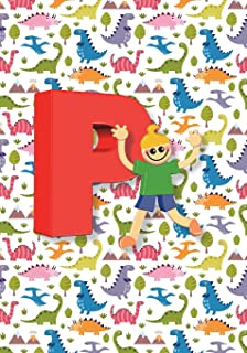 P Notebook: Back to School Notebooks, Soft Paperback, Cute College Ruled Notebook - Journal or Diary Notebook for Boys