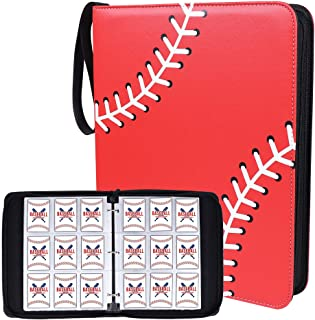 NeatoTek Waterproof Double Sided 40 Pages 720 Pockets Baseball Card Binder for Baseball Trading Cards, Display Case with B...