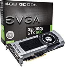 EVGA GeForce GTX 980 4GB GAMING,Silent Cooling Graphics Card 04G-P4-2980-KR (Renewed)