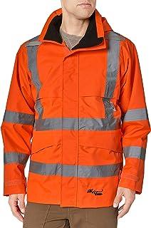 "Viking Men's 300d Safety Hooded JKT Orange (2"" Vi-brance Tape), Orange, 3XL"