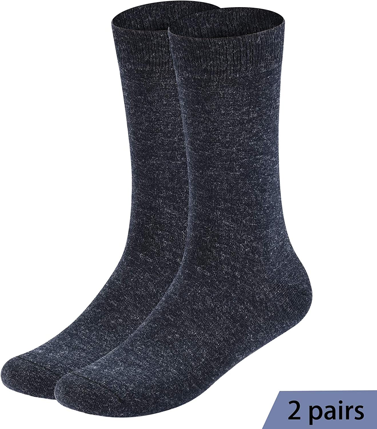 Pack of 6 Mens Socks Dress Socks Winter Wool Socks Business Soft and Comfortable Breathable ,Size 6-12…