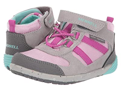 Merrell Kids Bare Steps Hiker (Toddler) (Grey/Purple) Girl