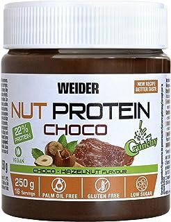 comprar comparacion Weider Whey Protein Crunchy Choco Vegan Spread 250 g. 100% vegana, Baja en azúcares, efecto crunchy, 23% proteína de guisante