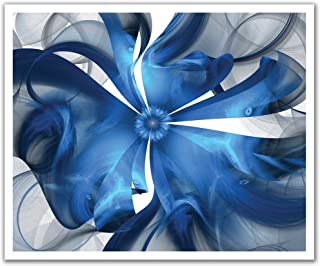JP لندن poslt2177ustrip Lite قابلة للإزالة ملصق حائط من الفينيل ملصق جداري كهربائي Avenue Wild تجريدية باللون الأزرق الزه...