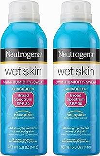 Neutrogena Wet Skin Sunscreen Broad Spectrum, SPF 30, 5 Ounce Spray (2 Count)