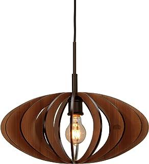 Woodbridge Lighting 14023MEB-W1D1CH Canopy Cherry Wood Pendant, Metallic Bronze