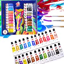 TBC The Best Crafts 24 Colors(9.5ml/Tube) Acrylic Paints for Artists(24 Basic & Metallic Colors), Ideal Acrylic Art Set fo...