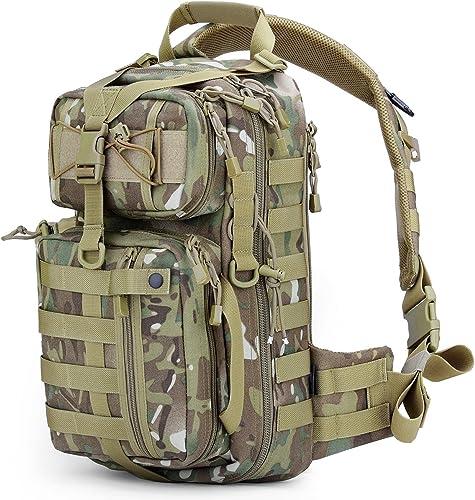 Free soldier Tactical Sac à dos avec une seule épaule, sac à dos pour randonnée, camping, sac de voyage, sac à dos militaire