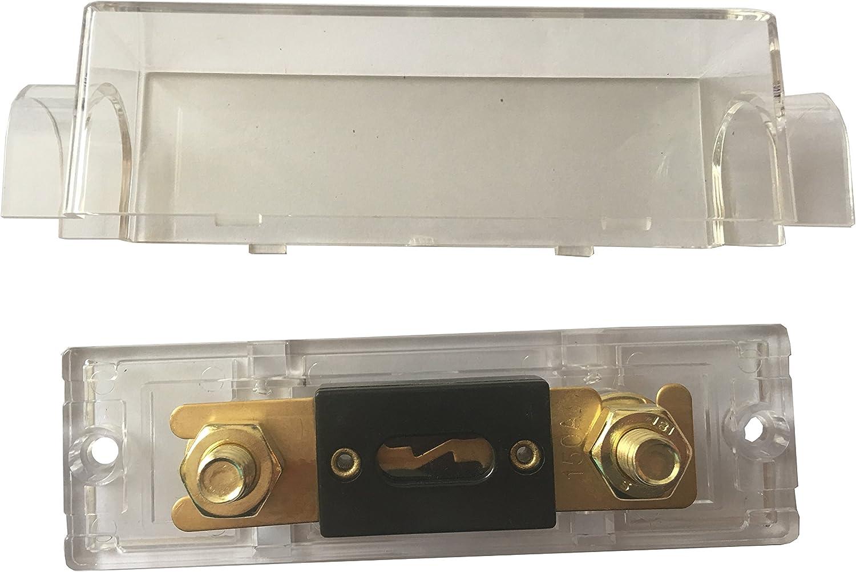 KOLACEN ANL Gold Plated Fuse 200 Amp ANL Fuse Holder 2 Pack