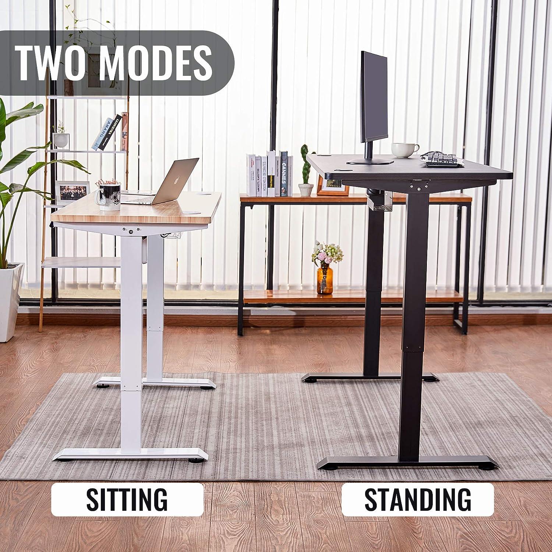 Schwarz-Tischgestell CO-Z H/öhenverstellbarer Schreibtisch Elektrisch h/öhenverstellbares Tischgestell mit Motor Speicherfunktion Schreibtischgestell Schreibtischst/änder