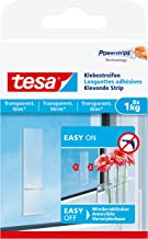 Tesa 77733-00000-00 Adhesive Strips for Transparent & Glass, 1 kg, wit