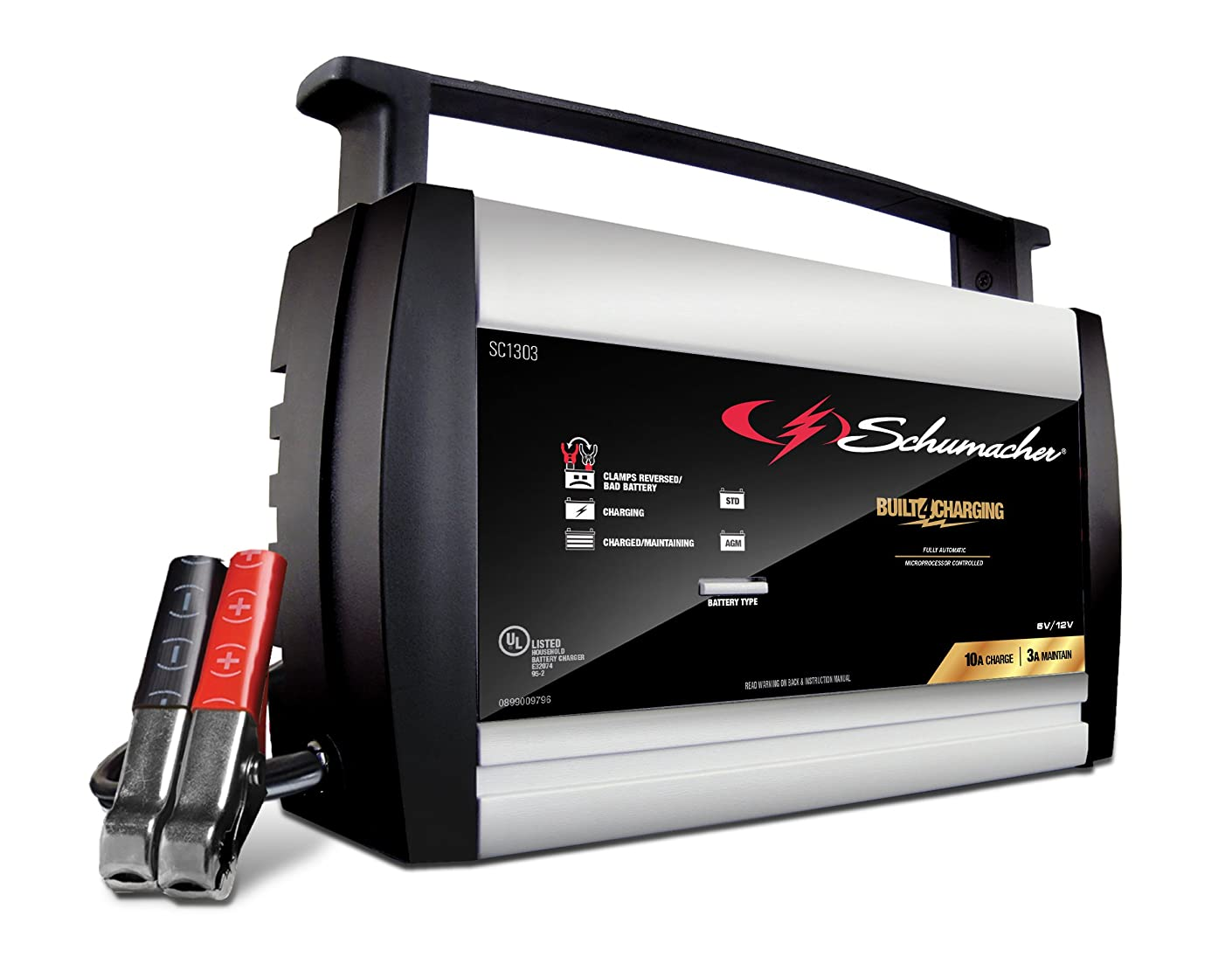 Schumacher SC1303 6/12V Fully Automatic Battery Charger and 10A Maintainer