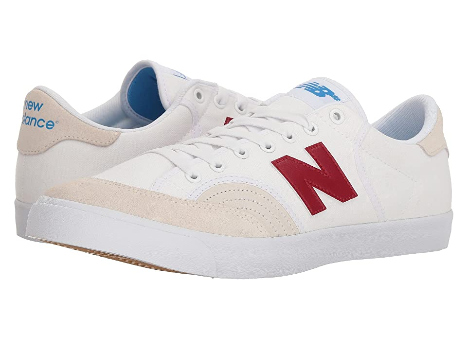 Mens Vintage Style Shoes| Retro Classic Shoes New Balance Numeric NM212 WhiteBurgundy Mens Skate Shoes $65.00 AT vintagedancer.com