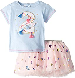 Two Birthday Skirt Set (Toddler)