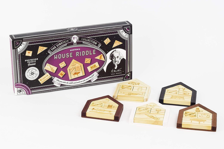Professor Puzzle Einstein's House Riddle Puzzle, Brown