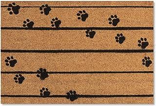 Darkyazi Coir Door Mats Natural Coco Outdoor Doormat Dog Paw Print Welcome Mat for Outdoor/Indoor/Entryway Front Floor Mat...