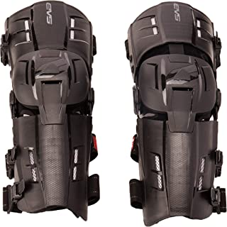 EVS Sports Men's Knee Brace (RS9 Pair) (Black, Large), 2 Pack