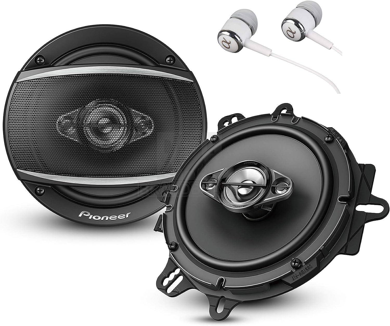 "Pioneer TS-A1680F A Series 6.5"" 350 Watts Max 4-Way Car Speakers"