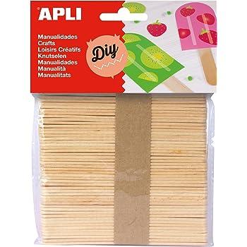 APLI - Bolsa palo polo natural, 50 uds: Amazon.es: Oficina y papelería