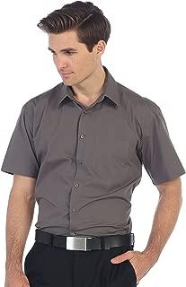 Gioberti Men's Short Sleeve Solid Dress Shirt