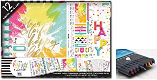 me & My Big Ideas Create 365 The Happy Planner, Colorful Happy Box Kit, 12 Months Undated, Comes with Kemah Craft 10 Pc Fineliner Color Pens (BOX-186)