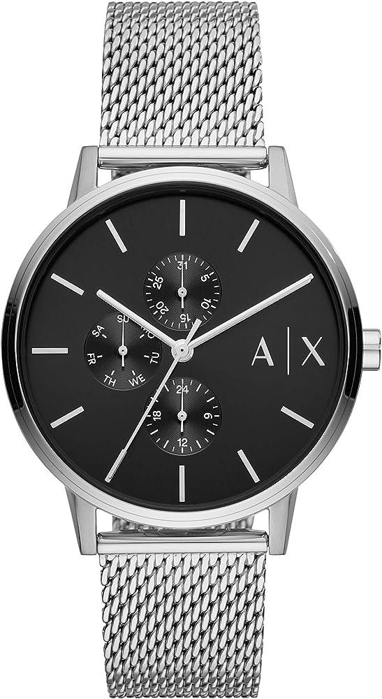 Armani exchange orologio analogico uomo in acciaio inossidabile AX2714