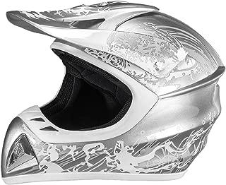 Raider Adrenaline MX Helmet (Grey, X-Large)